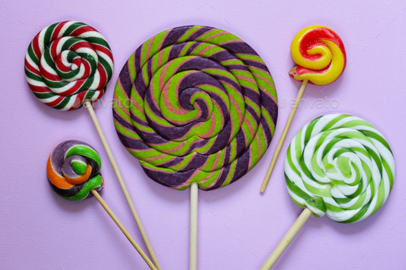 Colorful Lolly Pop Candy  - Stock Photo - Images
