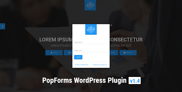 PopForms | Material Design WordPress Modal Forms Set - CodeCanyon Item for Sale