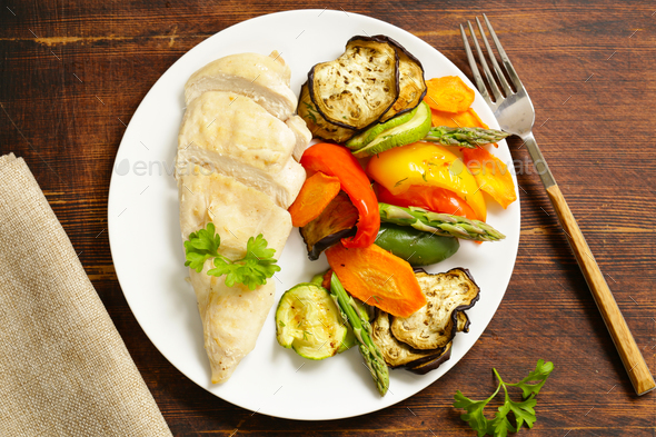 Healthy Food Chicken Fillet - Stock Photo - Images