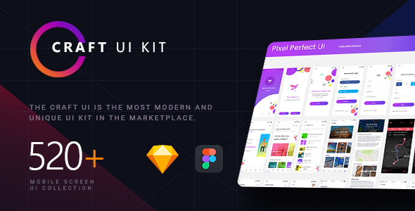 Craft | A Multipurpose and Multi Business Mobile UI Kit - Sketch Templates