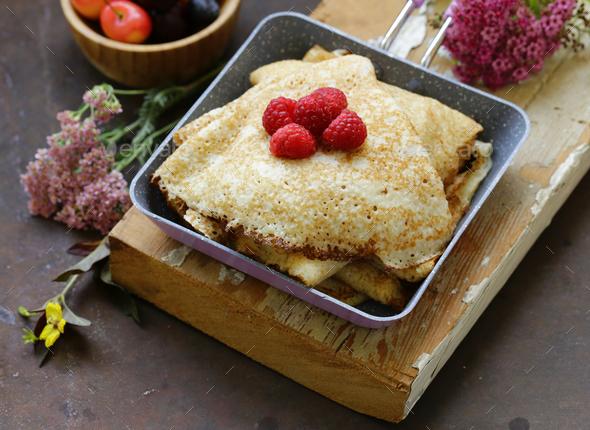 Thin Pancakes  - Stock Photo - Images