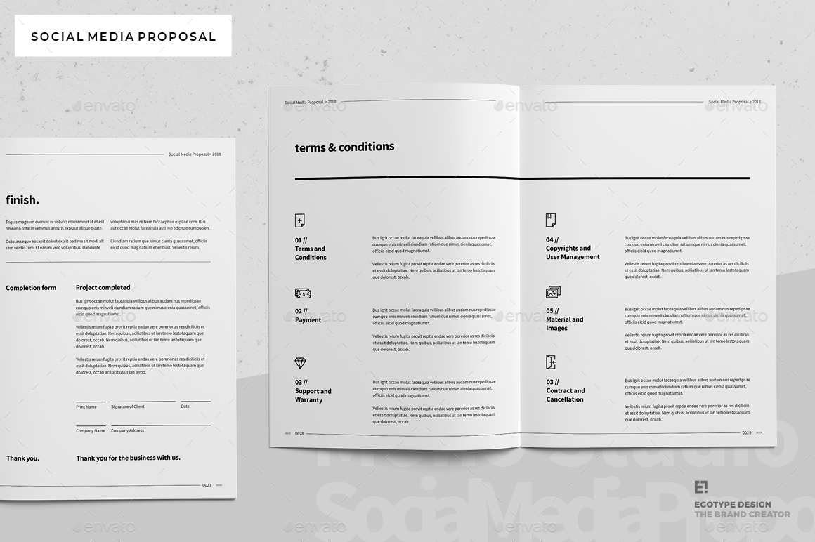 Social Media Proposal By Egotype GraphicRiver - Social media proposal template