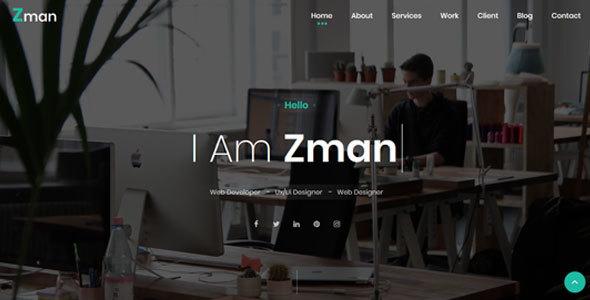 Image of Zman - Personal PortfolioTemplate