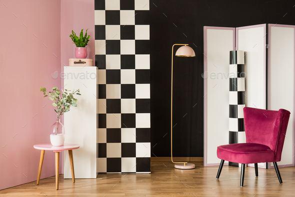 Colorful dressing room interior - Stock Photo - Images