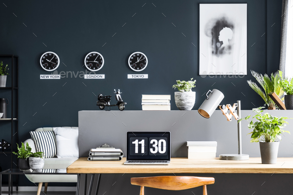 Modern home office interior - Stock Photo - Images