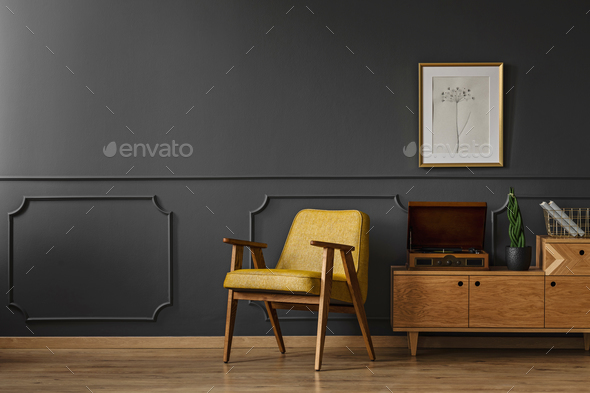 Simple vintage room interior - Stock Photo - Images