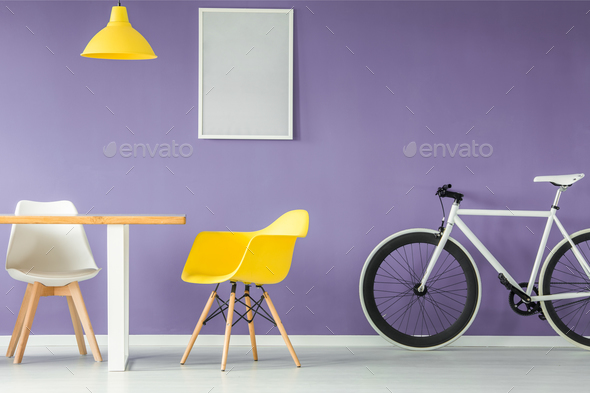 Minimal style interior with furniture - Stock Photo - Images