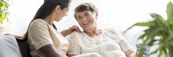 Caregiver an caretaker - Stock Photo - Images