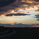 Dramatic sunset sky with orange colored clouds. - PhotoDune Item for Sale