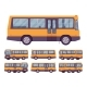 Yellow Bus Set - GraphicRiver Item for Sale