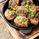 Meatballs in cast iron skillet - PhotoDune Item for Sale