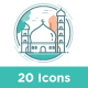 20 Eid Al Adha icon sets