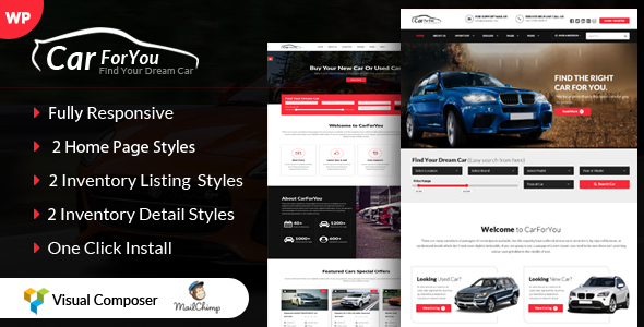 CarForYou - Responsive Car Dealer WordPress Theme - Corporate WordPress