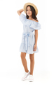 Full length image of Smiling young brunette girl in dress - PhotoDune Item for Sale