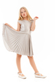 Full length image of Carefree young blonde girl in dress posing - PhotoDune Item for Sale