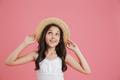 Portrait of beautiful summer girl 8-10 wearing white dress looki - PhotoDune Item for Sale