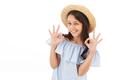 Pretty cute girl showing okay gesture. - PhotoDune Item for Sale