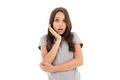 Shocked girl standing isolated - PhotoDune Item for Sale