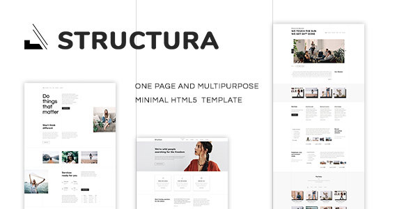 Structura - One Page Multipurpose Minimal Template - Business Corporate