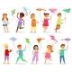 Kids Kite Vector Child Character Boy or Girl