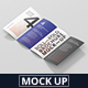 Roll-Fold Brochure Mockup - DL DIN Lang - GraphicRiver Item for Sale