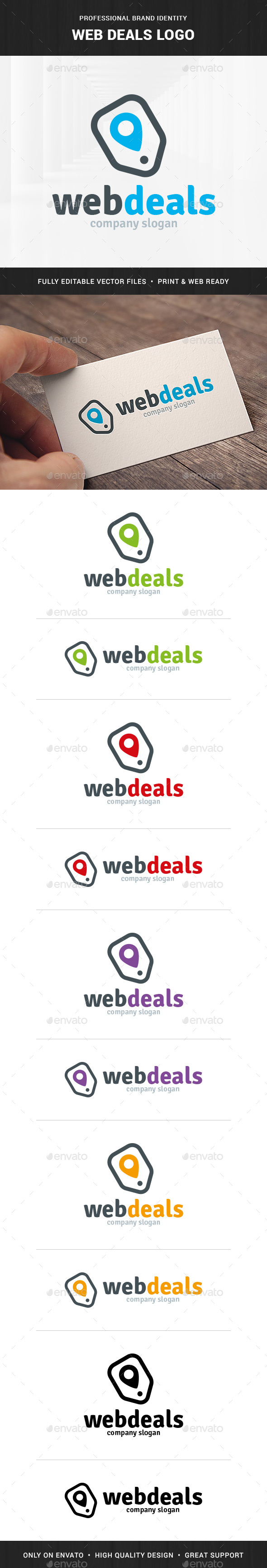 Web Deals Logo Template - Symbols Logo Templates