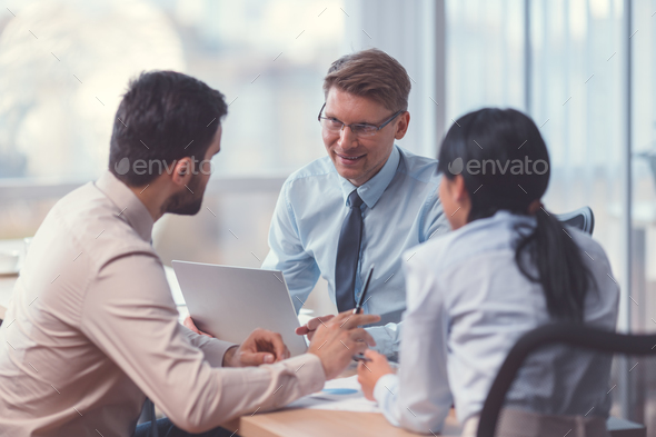 Business people in office - Stock Photo - Images