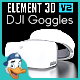 DJI Goggles for Element 3D - 3DOcean Item for Sale