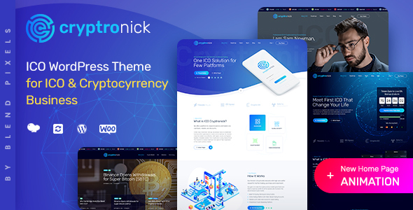 Cryptronick | WordPress Theme for ICO & Cryptocurrency Business
