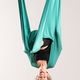 Laughing upside down woman doing aerial yoga - PhotoDune Item for Sale
