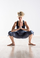 Single blond woman stretching hips - PhotoDune Item for Sale