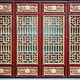 Chinese wooden red and golden door. - PhotoDune Item for Sale