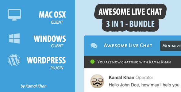 Awesome Live Chat - Wordpress Plugin - OSX Client - Windows Client            Nulled