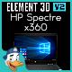 HP Spectre x360 for Element 3D - 3DOcean Item for Sale