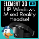 HP Windows Mixed Reality Headset for Element 3D - 3DOcean Item for Sale