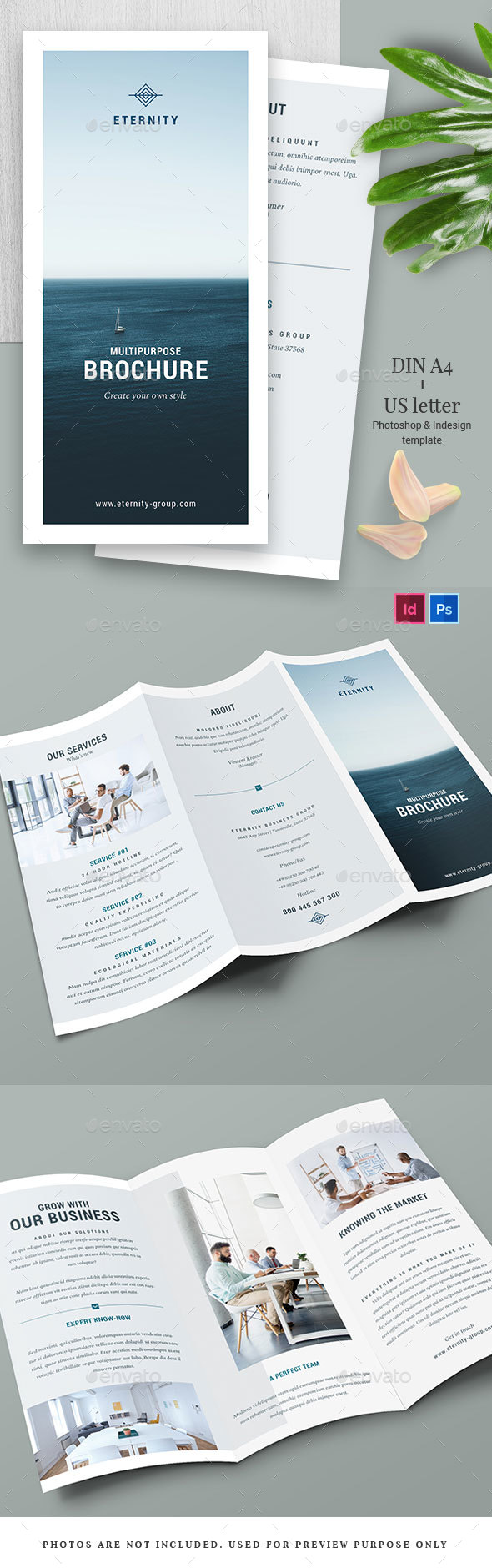 Clean Trifold Brochure - Vol.2 - Brochures Print Templates