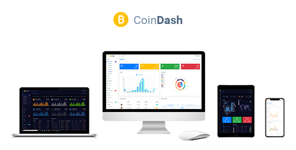 Cryptocurrency Dashboard Admin Template - Coindash - Admin Templates Site Templates