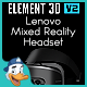 Lenovo Windows Mixed Reality Headset for Element 3D - 3DOcean Item for Sale