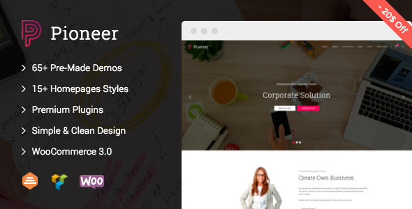 Image of Pioneer - Multi-Concept Corporate WordPress Theme
