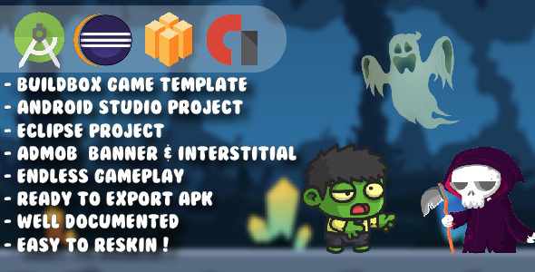 Mini Zombie Boy - Android Studio & Eclipse & Buildbox Game Template            Nulled