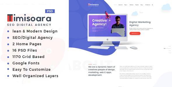 Timisoara SEO/Digital Agency PSD Template - Creative PSD Templates