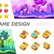 Cartoon Game Design UI Composition