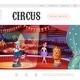 Cartoon Circus Web Page Template