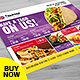 Restaurant Menu - Food Menu Landscape Flyer - GraphicRiver Item for Sale