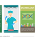 Flat Medical Vertical Banners