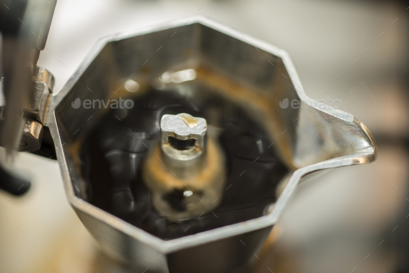 Traditional italian moka coffee maker. - Stock Photo - Images