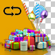 Varied Birthday Gifts and Balloons - VideoHive Item for Sale