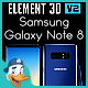 Samsung Galaxy Note 8 for Element 3D - 3DOcean Item for Sale