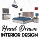 Hand Drawn Interior Designs