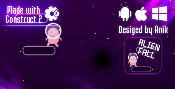 Alien Fall - HTML5 Game (CAPX)